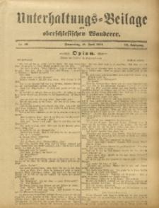 Unterhaltungs-Beilage zum Oberschlesischen Wanderer, 1912, Jg. 85, Nr. 88
