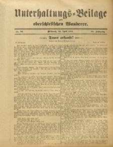 Unterhaltungs-Beilage zum Oberschlesischen Wanderer, 1912, Jg. 85, Nr. 93