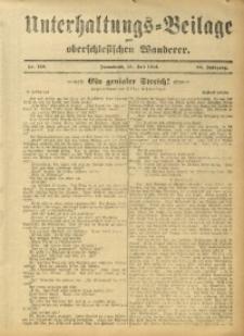 Unterhaltungs-Beilage zum Oberschlesischen Wanderer, 1912, Jg. 85, Nr. 158