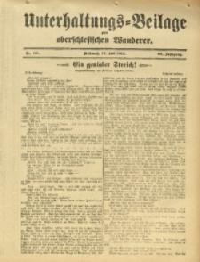 Unterhaltungs-Beilage zum Oberschlesischen Wanderer, 1912, Jg. 85, Nr. 161