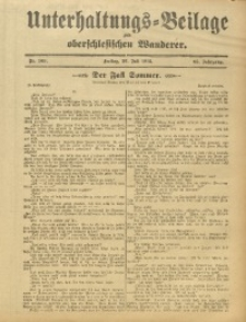 Unterhaltungs-Beilage zum Oberschlesischen Wanderer, 1912, Jg. 85, Nr. 169