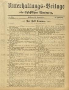 Unterhaltungs-Beilage zum Oberschlesischen Wanderer, 1912, Jg. 85, Nr. 185