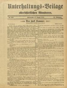 Unterhaltungs-Beilage zum Oberschlesischen Wanderer, 1912, Jg. 85, Nr. 188