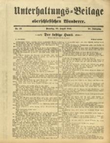 Unterhaltungs-Beilage zum Oberschlesischen Wanderer, 1912, Jg. 85, Nr. 190