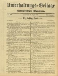 Unterhaltungs-Beilage zum Oberschlesischen Wanderer, 1912, Jg. 85, Nr. 194