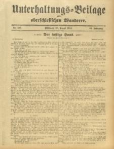 Unterhaltungs-Beilage zum Oberschlesischen Wanderer, 1912, Jg. 85, Nr. 197
