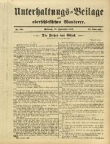Unterhaltungs-Beilage zum Oberschlesischen Wanderer, 1912, Jg. 85, Nr. 221