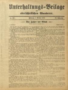 Unterhaltungs-Beilage zum Oberschlesischen Wanderer, 1912, Jg. 85, Nr. 227