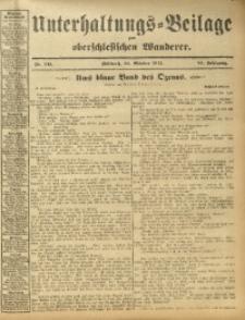 Unterhaltungs-Beilage zum Oberschlesischen Wanderer, 1912, Jg. 85, Nr. 245
