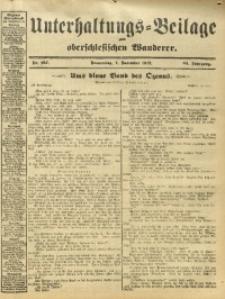 Unterhaltungs-Beilage zum Oberschlesischen Wanderer, 1912, Jg. 85, Nr. 257