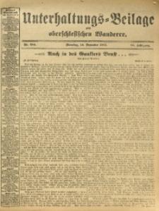 Unterhaltungs-Beilage zum Oberschlesischen Wanderer, 1912, Jg. 85, Nr. 284