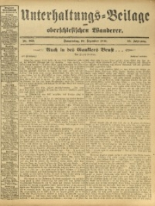 Unterhaltungs-Beilage zum Oberschlesischen Wanderer, 1912, Jg. 85, Nr. 292