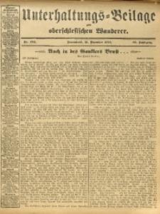 Unterhaltungs-Beilage zum Oberschlesischen Wanderer, 1912, Jg. 85, Nr. 294
