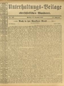 Unterhaltungs-Beilage zum Oberschlesischen Wanderer, 1912, Jg. 85, Nr. 295