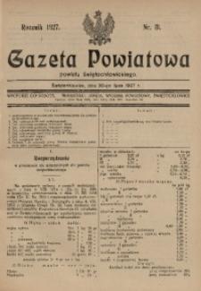 Gazeta Powiatowa Powiatu Świętochłowickiego, 1927, nr 31