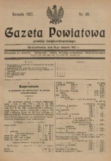 Gazeta Powiatowa Powiatu Świętochłowickiego, 1927, nr 33