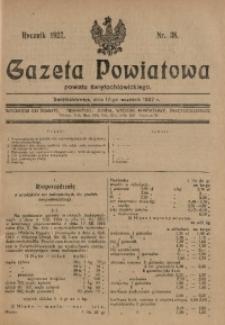 Gazeta Powiatowa Powiatu Świętochłowickiego, 1927, nr 38