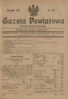 Gazeta Powiatowa Powiatu Świętochłowickiego, 1927, nr 39