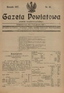Gazeta Powiatowa Powiatu Świętochłowickiego, 1927, nr 51