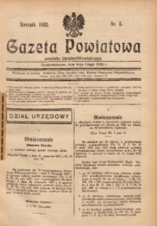 Gazeta Powiatowa Powiatu Świętochłowickiego, 1933, nr 5