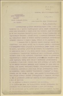 Odpowiedź Ministerstwa Spraw Zagranicznych do Marszałka Sejmu Ustawodawczego w sprawie interpelacji posłów Kunickiego, Regera i towarzyszy z dnia 08.10.1920 r.