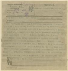 Rozmowa telegraficzna ks. Milika z ks. Ściskałą o propagandzie wiadomości, rezolucji z wiecu poznańskiego i sytuacji w Zagłębiu Ostrawsko-Karwińskim, Cieszyn, Poznań, 20.03.1920 r.