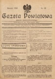 Gazeta Powiatowa Powiatu Świętochłowickiego, 1933, nr 15