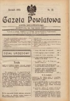 Gazeta Powiatowa Powiatu Świętochłowickiego, 1933, nr 22