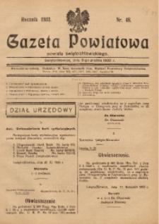 Gazeta Powiatowa Powiatu Świętochłowickiego, 1933, nr 48