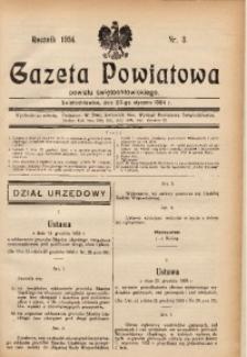 Gazeta Powiatowa Powiatu Świętochłowickiego, 1934, nr 3