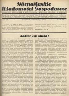 Górnośląskie Wiadomości Gospodarcze, 1932, R. 9, nr 16