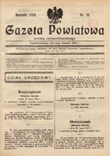 Gazeta Powiatowa Powiatu Świętochłowickiego, 1934, nr 31