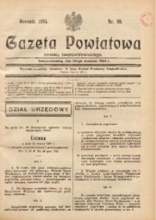 Gazeta Powiatowa Powiatu Świętochłowickiego, 1934, nr 38
