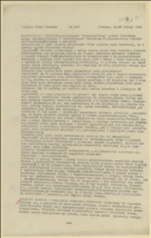 Komunikaty Polskiego Biura Prasowego w Cieszynie nr 118 - 28.02.1920 r.
