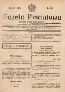 Gazeta Powiatowa Powiatu Świętochłowickiego, 1934, nr 50
