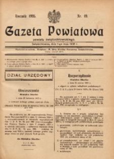 Gazeta Powiatowa Powiatu Świętochłowickiego, 1935, nr 19
