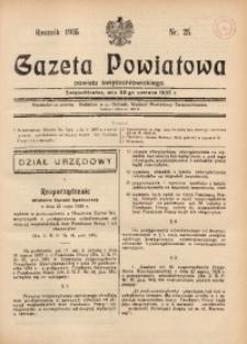 Gazeta Powiatowa Powiatu Świętochłowickiego, 1935, nr 25