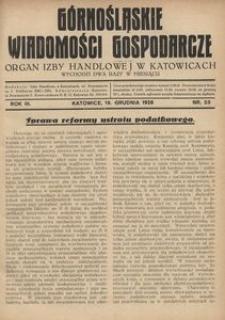 Górnośląskie Wiadomości Gospodarcze, 1926, R. 3, nr 23