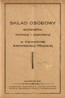 Wiadomości Administracyjne Miasta Katowic, 1930, nr [5]