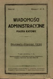 Wiadomości Administracyjne Miasta Katowic, 1932, nr 1/3