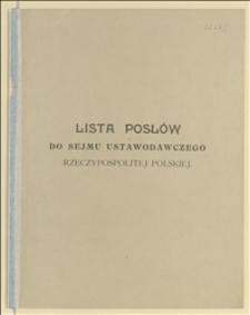 Lista posłów do Sejmu Ustawodawczego Rzeczypospolitej Polskiej