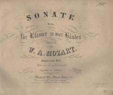 Sonate G dur für Klavier zu vier Händen. Nachgelassenes Werk