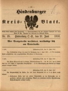 Hindenburger Kreis-Blatt, 1916, Nr. 25