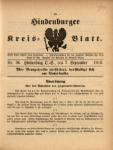 Hindenburger Kreis-Blatt, 1916, Nr. 36