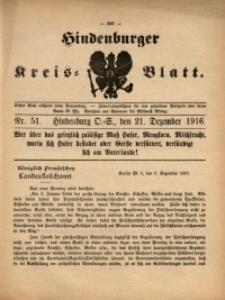 Hindenburger Kreis-Blatt, 1916, Nr. 51