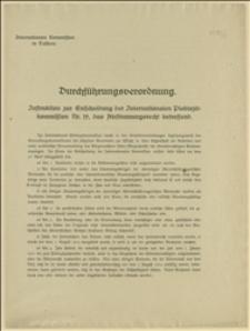 Durchführungsverordnung. Instruktion zur Entscheidung der Internationalen Plebiszitkommission Nr. 19, das Abstimmungsrecht betreffend.
