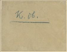 """Koperta z napisem """"K. ob."""""""