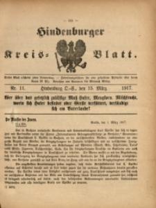 Hindenburger Kreis-Blatt, 1917, Nr. 11