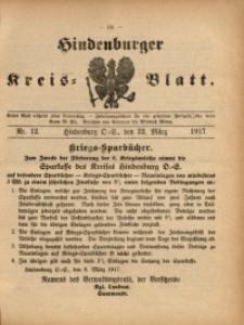 Hindenburger Kreis-Blatt, 1917, Nr. 12