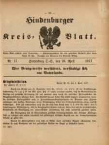 Hindenburger Kreis-Blatt, 1917, Nr. 17